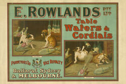 E. Rowlands Pty. Ltd. Table Waters And Cordials Vintage Advertising