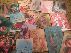 Vintage Sweet Christmas Cards Die Cuts Gift Tags 80 Piece 20 Cute Styles20a