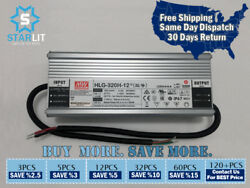 Mean Well Hlg-320h-12 264w 12v 22a 90-305vac Ip67 Led Driver / Power Supplies