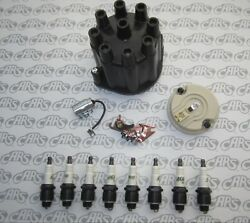 1957-1958 Buick Ignition Tune-up Kit. Cap Rotor Points Condenser And 8 Delco Plugs