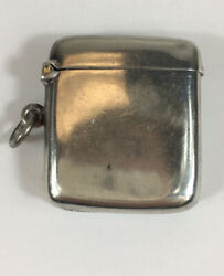 Antique 1911 Joseph Gloster Ltd Solid Silver Vesta Case 4.3cm In Height 23.6g