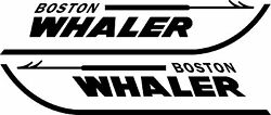Boston Whaler Boat Decals - Fits Many Models 3.5 X 18 Set Of 2 Decals