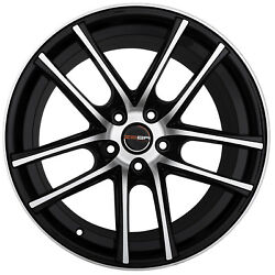 4 GWG ZERO 18 inch Black Machined Rims 18x9 fits CHEVY IMPALA 2000 - 2013