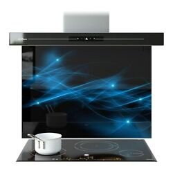Splashback Kitchen Glass Cooker Printed Any Size Flashes Abstract Art Lines 0068