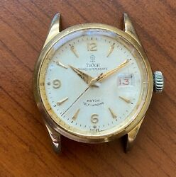 Very Rare Menand039s Tudor 7956 Oysterdate Gold Plated Watch