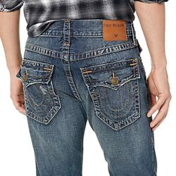 True Religion Menand039s Rocco Distressed Skinny Fit Jeans In Lost Horizon