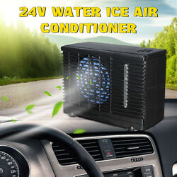 24V Portable Evaporative Mini Air Conditioner Home Car Water Cooler Cooling Fan