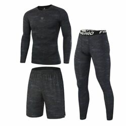 Compression Sport Suits Men Quick Dry Running Jogging Fitness Training Clothes