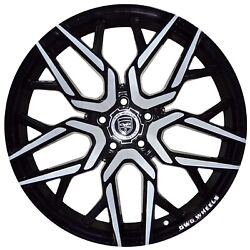 4 GWG NIGMA 20 inch Black Machined Rims fits CHEVY IMPALA 2000 - 2013