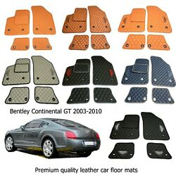 Leather Carmats Bespoke Fully Tailored Mats Fit Bentley Continental Gt 2003-2010