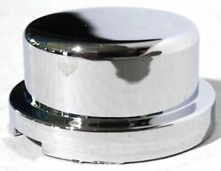 Nut Covers8 3/4 Tophat Chrome Plstc 5/8 Tall For Peterbilt Freightliner Bumper