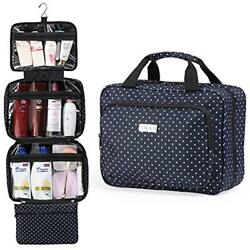Hanging Travel Toiletry And Cosmetic Bag For Women By SAFARI (Polka Dot) - Large