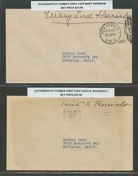4 Different First Ladies Autograph On Covers Retail 265 Bu7047