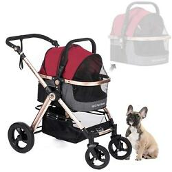 Pet Stroller For Cats And Dogs Sizes Small Medium & Large HPZ Rover Prime 3-in-1