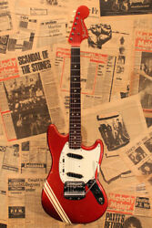 Fender 1969 MUSTANG Competition Red Finish with Back Stripes Used