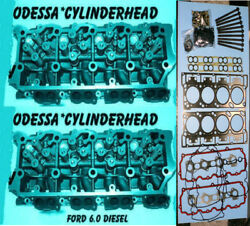 New 2 Ford 6.0 Turbo Diesel F350 Cylinder Heads 20mm Cast613 06andup Boltsandgasket