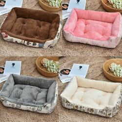 Soft Dog Beds Lounger Sofa Warm Fleece Large Pet Cat Cushion Mat Small Pad Couch