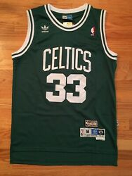 Larry Bird #33 Throwback Boston Celtics Green Mens Jersey