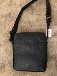 Coach Men's Metropolitan Flight Crossbody Bag In Signature Leather. Brand New.