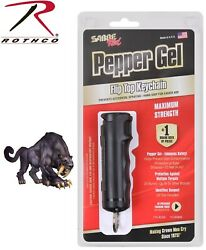 Sabre Magnum Red 3-in-1 Maximum Pepper Spray Gel With Flip Top And Key Ring 11021