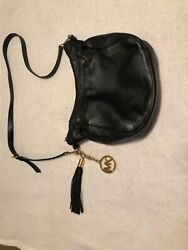Black And Gold Crossbody Michael Kors Purse $40.00