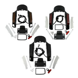 Rear Fender Fascia With Led Light Fit For Harley Road King Flhr 14-18 3 Styles