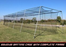 Cimarron 60x12x10 Batting Cage And Complete Frame Hd