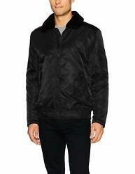 Kenneth Cole New York Men's Aviator Jacket Removable Faux Sherpa Collar