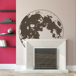 Full Moon Wall Decal - Pick A Darker Vinyl Color For The Most Accuracy K738