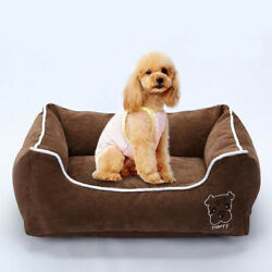 Puppy Dog House Pet Bed Cat Warm Kennel Soft Cushion Mat Blanket Large Small Pad