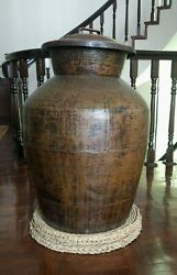 Ancient Vintage Nepalese Handmade Copper Container Pot Himalayas Old Collective
