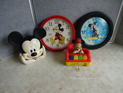 Lot Of Misc Vintage Walt Disney Mickey Mouse Items Parts Or Repair