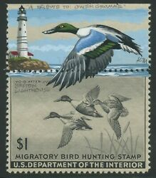 Rw12v 2 1945 Duck Remarque Painted By Ken Michaelsen Boston Lighthouse Bu7389
