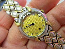 Beautiful Womanand039s Chaumet 18k Gold And Stainless Steel Diamond Watch Make Offer