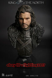 Game Of Thrones 1/2 Scale Jon Snow 13andlsquoandrsquo Painted Bust Statue Limited200 In Stock