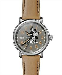 limited 90 SHINOLA  x DISNEY Runwll Sketch Mickey Runwell 3H 41mm Watch Unused