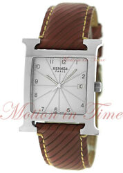 Hermes Heure H, Silver Dial - Stainless Steel On Strap, Ref Hh1.810