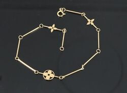 3250 Louis Vuitton 18k Solid Yellow Gold Flower Link 7and039and039 To 9.5and039and039 Bracelet