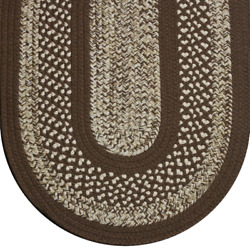 Brown Beige Cream Tweed Braided Area Rugs By Colonial Rug-many Sizes 117