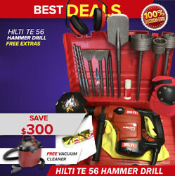 Hilti Te 56 Hammer Drill Preowned Free Vacuum Cleaner Extras Fast Ship
