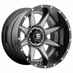 Fuel Rampage D238 22x10 6x135 Offset -11 Anthracite W/gloss Black Lip Qty Of 1