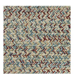 Blue Red Beige Cream Braided Area Rugs By Colonial Rug--many Sizes 401