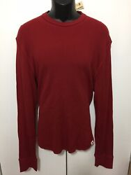 Nwt Mens Aeropostale Red Thermal Style Long Sleeve Shirt Size Xl