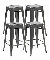 Eurosports Tolix Style Chair 3001-ms-4 Backless Metal Bar Stools Chair, Set Of 4