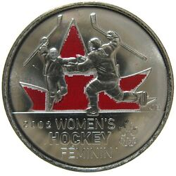 Rcm - 2009 - 25-cent - Womenand039s Ice Hockey - Colorized - Uncirculated