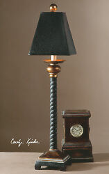 Vintage Chic Western Decor 31 Twisted Rope Bellcord Table Buffet Lamp