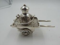 Egyptian Silver 900 Decorative Wagon And Urn Trinket 66.9 Grams Middle Eastern