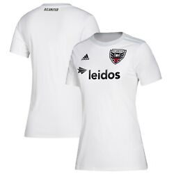 Adidas Dc United Mls 2019 Womens Soccer Home Jersey Brand New Pure White