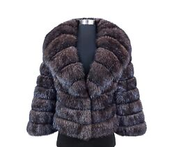 RUSSIAN BARGUZIN WILD SABLE FUR EXQUISITE NATURAL SILVER TIP JACKET