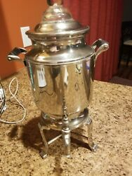 Vintage Landers Frary And Clark Silver Plate Coffee Percolator